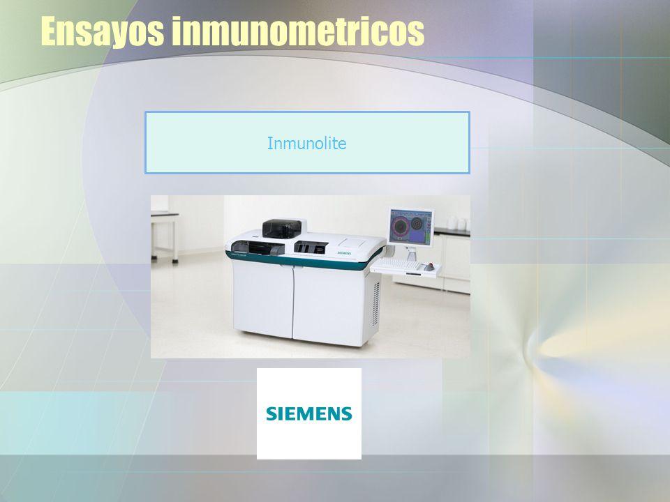 Ensayos inmunometricos Inmunolite