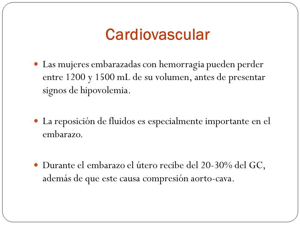 Gastrointestinal Durante la gestación el tiempo de vaciamiento gástrico es prolongado.