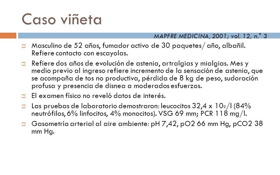 Fibrosis Pulmonar Idiopática Factores de riesgo Tabaquismo Fármacos (antidepresivos) Aspiración crónica Reflujo gastroesofágico mayor prevalencia, frecuentemente clínicamente oculto Polvo metal y madera Agentes infecciosos HVC, EBV