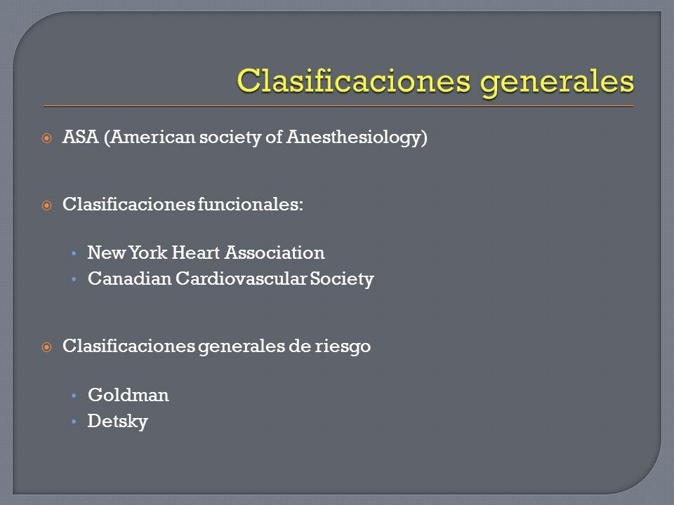 Factores de Complicación Cardiovascular Cirugía de Alto Riesgo Antecedente cardiopatía isquémica Insuficiencia cardiaca Insulina Crea > 2.0 mg/dl Evento Vascular Cerebral