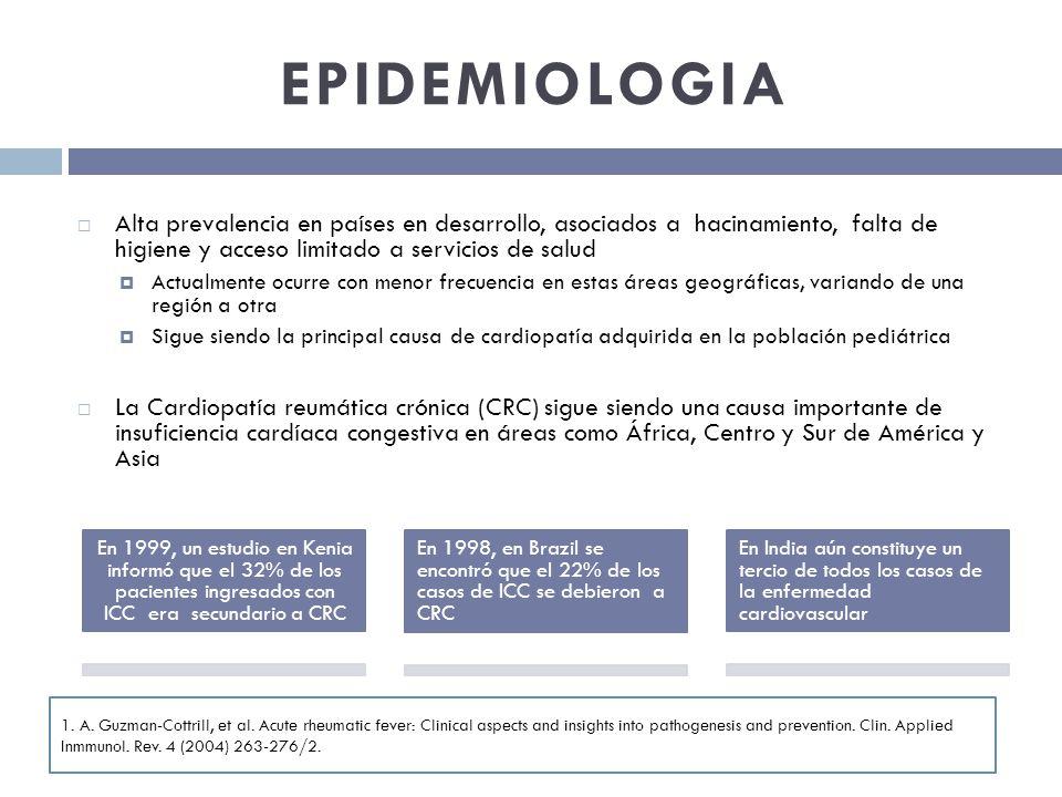 EPIDEMIOLOGIA Alta prevalencia en países en desarrollo, asociados a hacinamiento, falta de higiene y acceso limitado a servicios de salud Actualmente