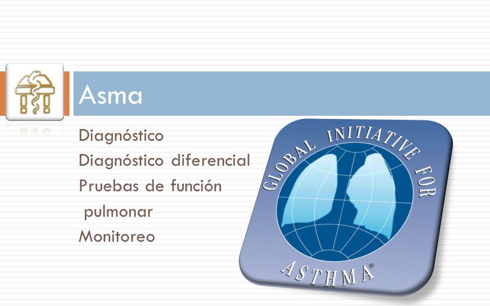 Asma Diagnóstico Diagnóstico diferencial Pruebas de función pulmonar Monitoreo