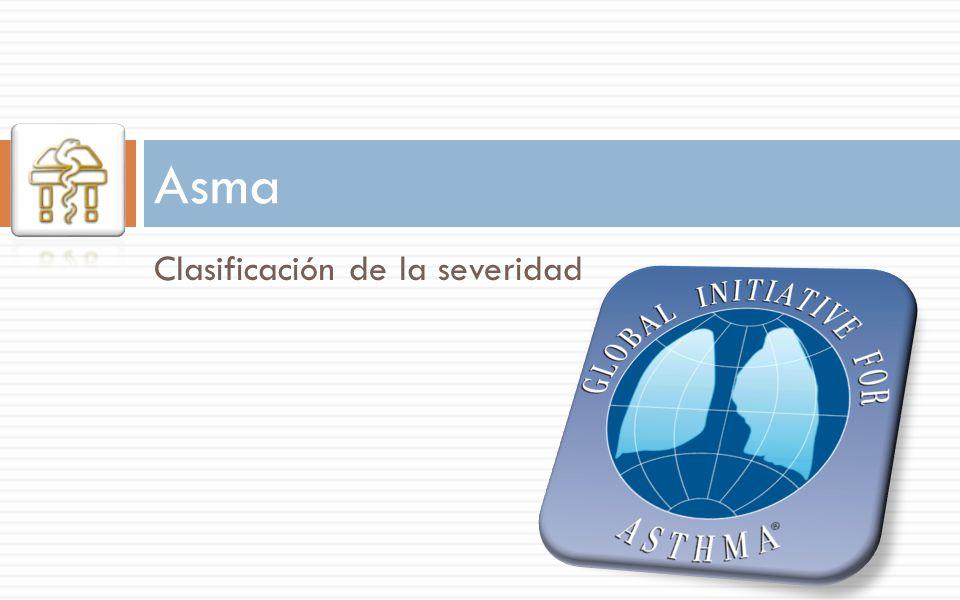 Clasificación de la severidad Asma