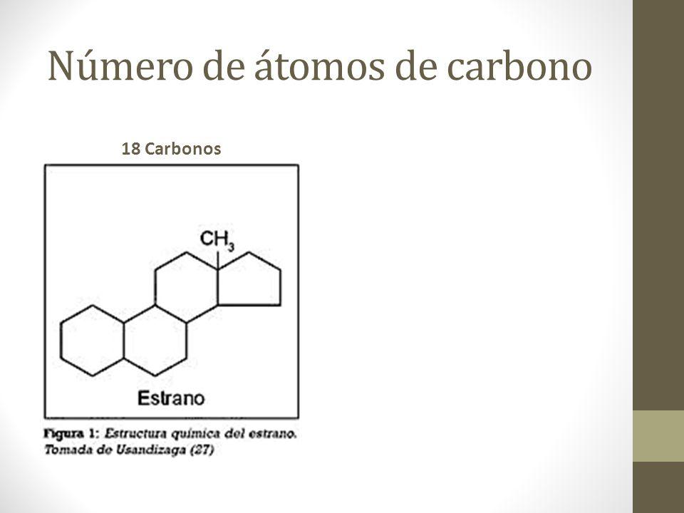 Número de átomos de carbono 18 Carbonos