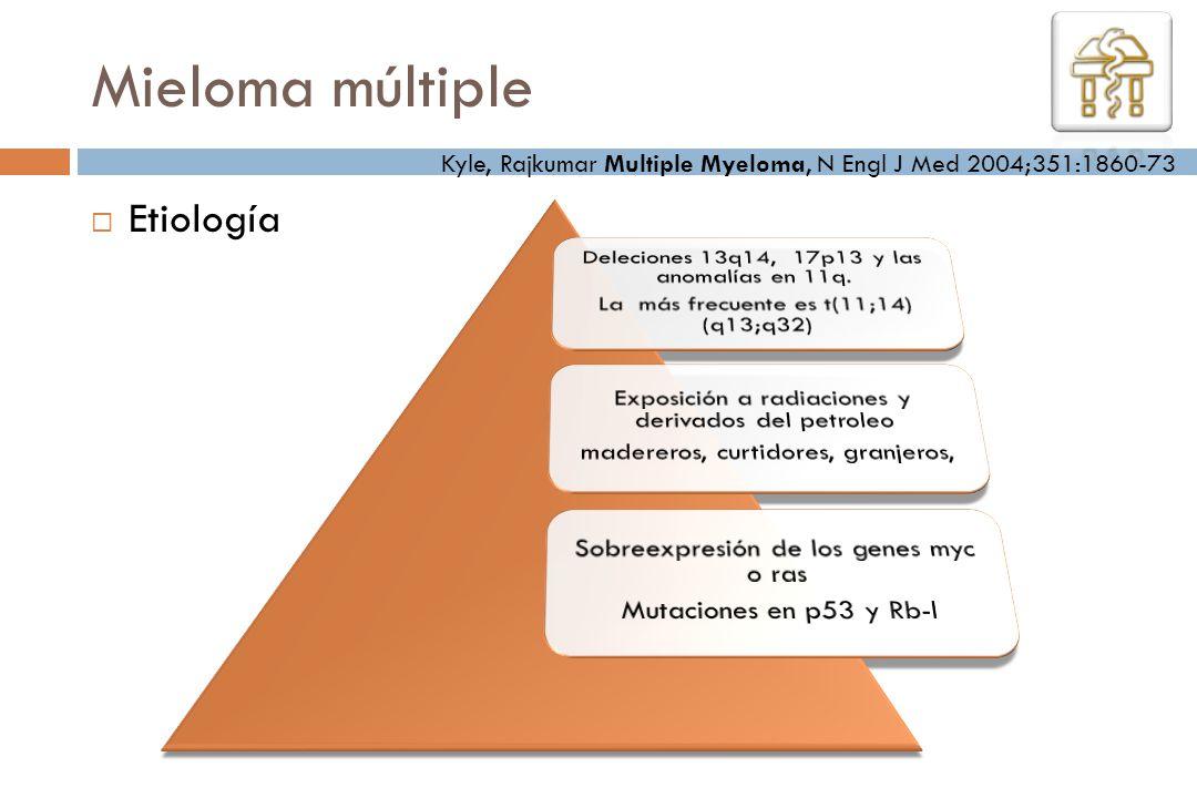 Etiología Kyle, Rajkumar Multiple Myeloma, N Engl J Med 2004;351:1860-73