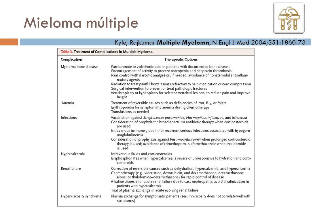 Kyle, Rajkumar Multiple Myeloma, N Engl J Med 2004;351:1860-73