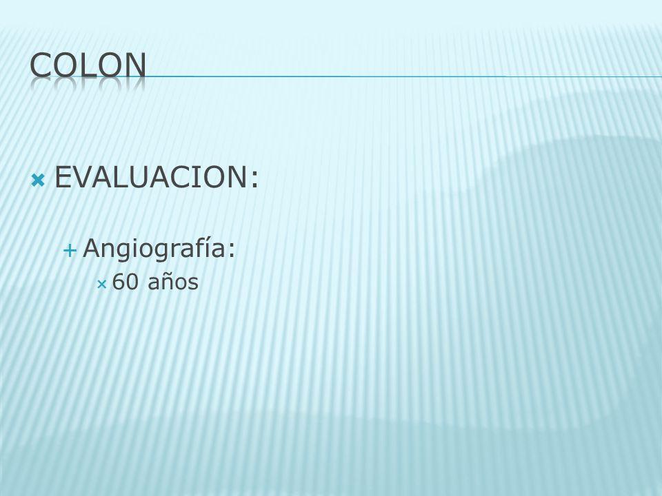 EVALUACION: Angiografía: 60 años