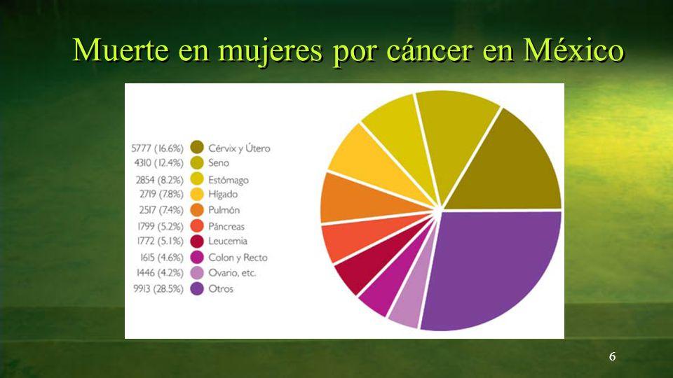 6 Muerte en mujeres por cáncer en México
