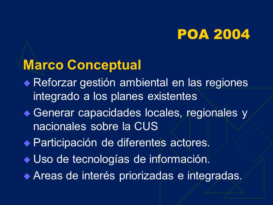 Resultados 2003 Resultado 2 Existe interés en compartir información Conexiones nacionales e internacionales Armonización de bases de datos según estándares internacionales SIAMAZONIA esta en el ranking 166 de las páginas peruanas más visitadas Sugerencia: ampliar el servicio a Bolivia y Brasil, y mayor nexo entre universidades y colegios profesionales