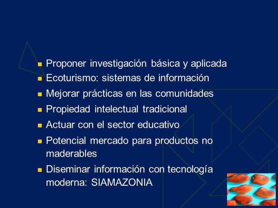 POA 2004 Resultado 1 Propuesta de Plataforma de Servicios: Facilitar acuerdos multilaterales sobre DB Asistencia técnica a tomadores de decisión y actores Información de mecanismos financieros y oportunidades de inversión Identificación de proyectos y programas sobre la DB