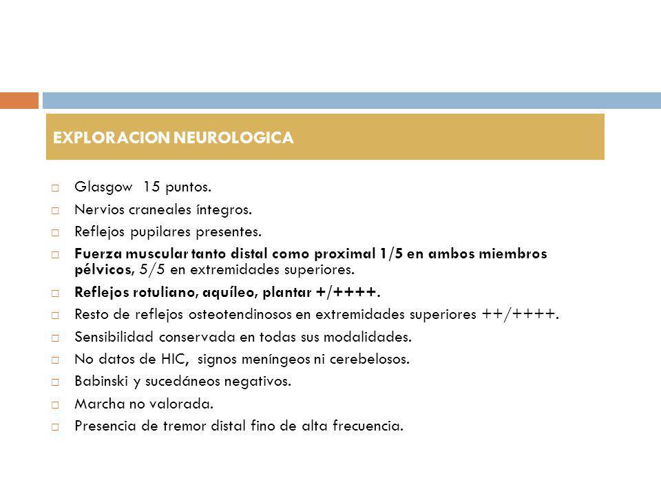 LABORATORIOS Hb 16.9 Hto 48.5 Plaquetas 239,000 Leucocitos 8,500, N68, L 19.
