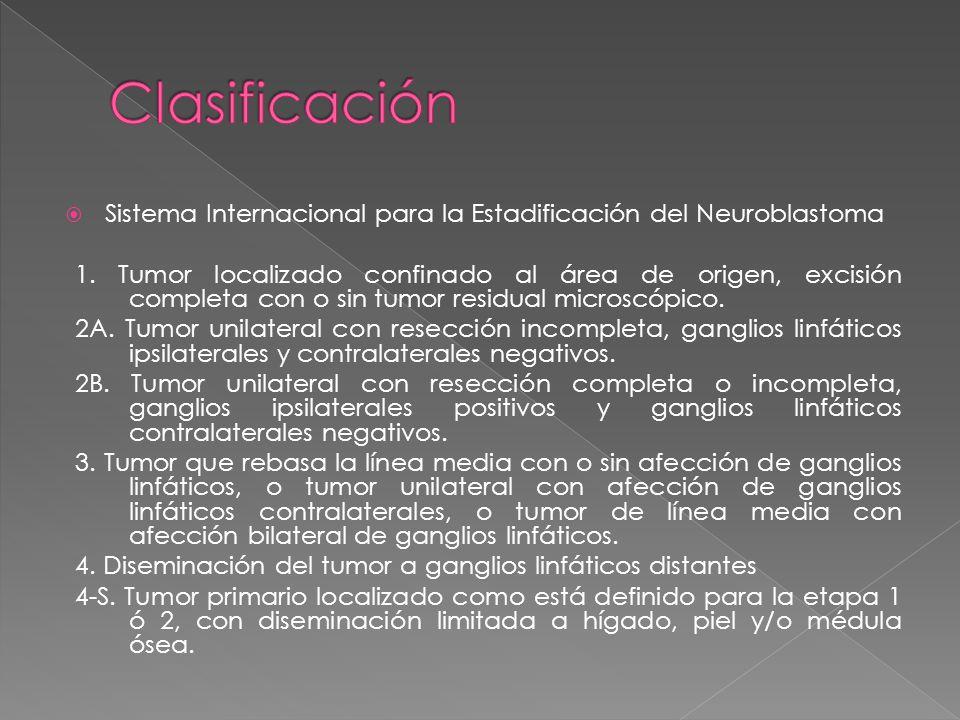 Sistema Internacional para la Estadificación del Neuroblastoma 1.
