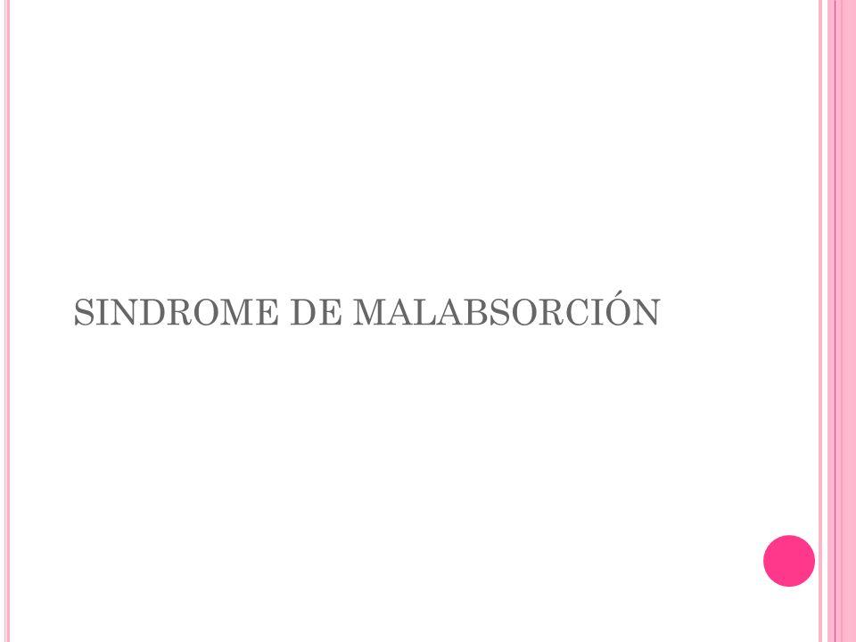 SINDROME DE MALABSORCIÓN