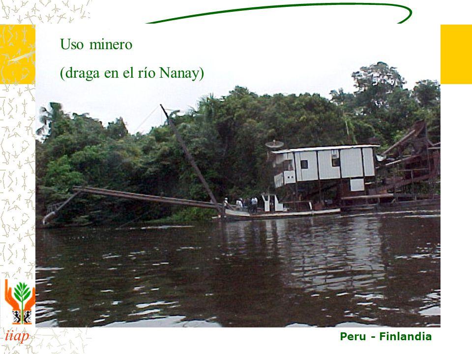 iiap BIODAMAZ Peru - Finlandia Uso minero (draga en el río Nanay)