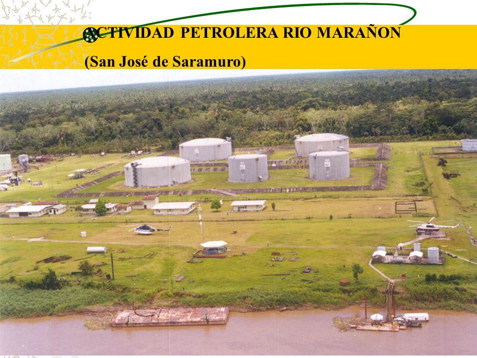 iiap BIODAMAZ Peru - Finlandia ACTIVIDAD PETROLERA RIO MARAÑON (San José de Saramuro)