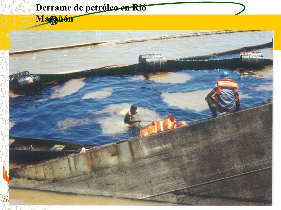 iiap BIODAMAZ Peru - Finlandia Derrame de petróleo en Rió Marañón