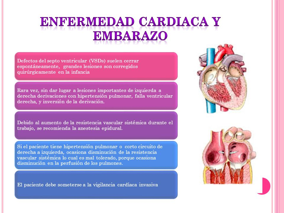 Defectos del septo ventricular (VSDs) suelen cerrar espontáneamente, grandes lesiones son corregidos quirúrgicamente en la infancia Rara vez, sin dar