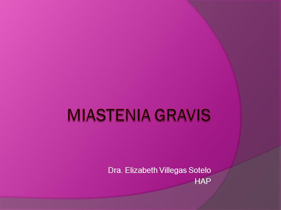 MIASTENIA GRAVIS La Miastenia Gravis es una enfermedad autoinmune adquirida, de la unión neuromuscular: Anticuerpos frente al receptor nicotínico de las subunidades alfa de la Ach del tipo IgG.