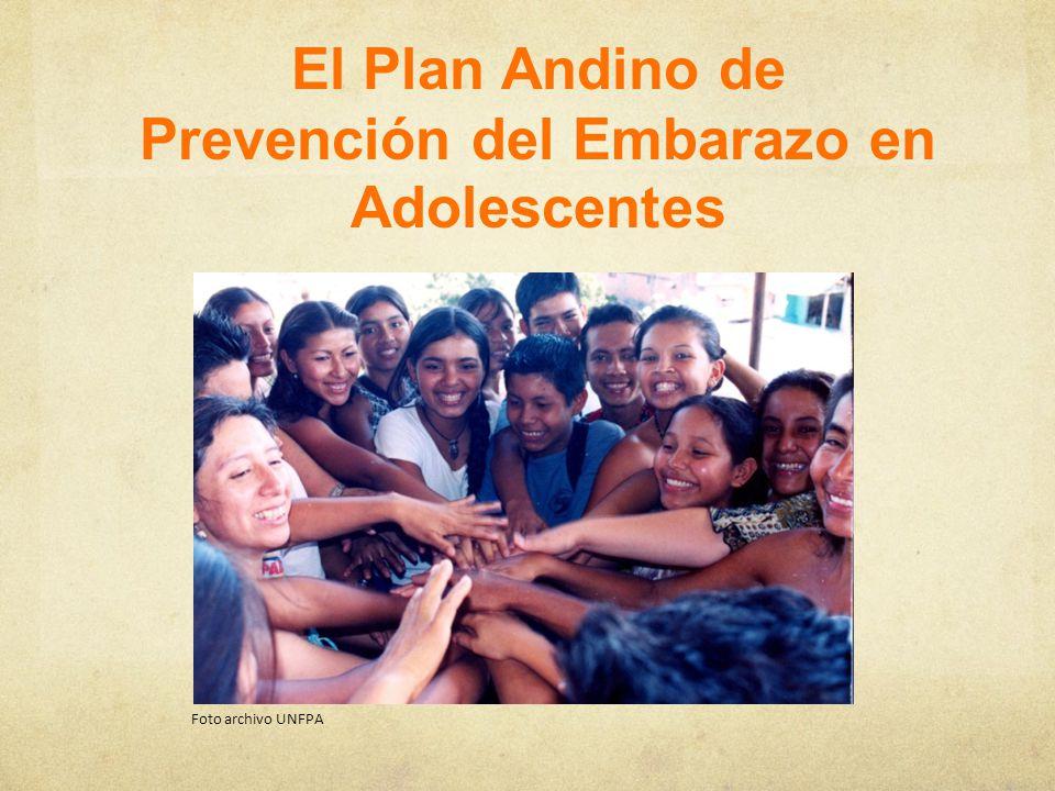 Plan Andino de Prevención del Embarazo en Adolescentes Objetivo Contribuir a disminuir las brechas de acceso a servicios de salud en las y los adolescentes, promoviendo el ejercicio de sus derechos humanos, incluidos los sexuales y reproductivos, la equidad social y de género; con enfoque intercultural y participación juvenil.