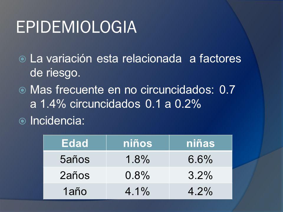 ETIOLOGIA 90% Infeccion del tracto urinario (ITU) :Gram negativos - E.