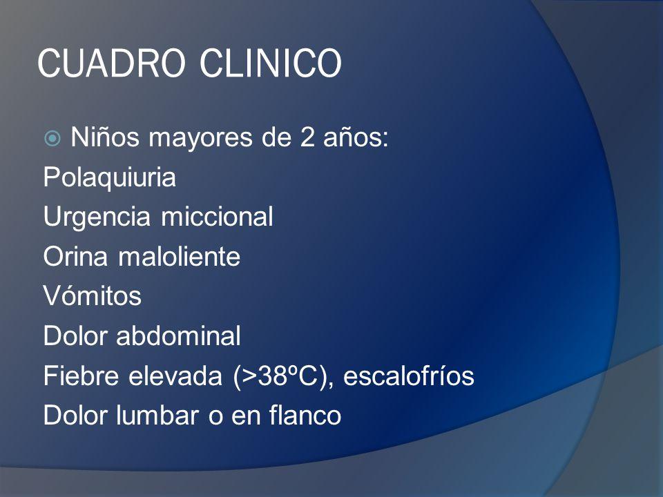 DIAGNOSTICO EGO Niños <2 años con fiebre sin foco, rechazo del alimento, vómitos o estancamiento ponderal.