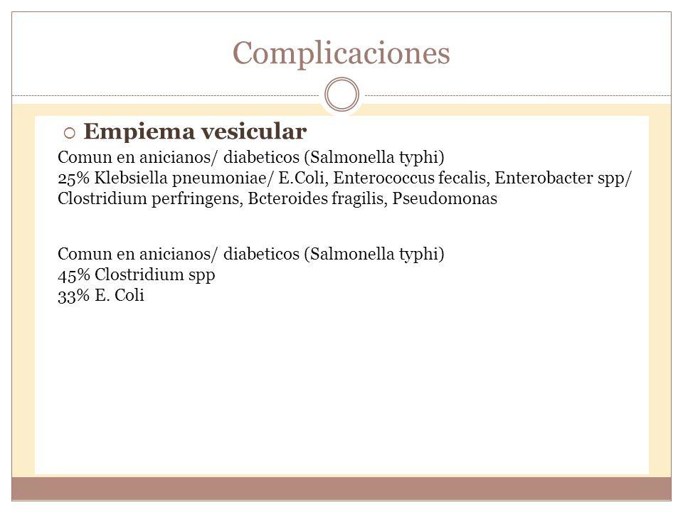 Kasper: Braunwald; Fauci; Hauser; Longo; Jameson. Harrison, Principios de Medicina Interna. 16ta edicion. Mc Graw Hill. pp 10086-10134 Complicaciones