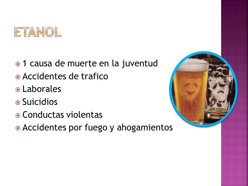 1 causa de muerte en la juventud Accidentes de trafico Laborales Suicidios Conductas violentas Accidentes por fuego y ahogamientos
