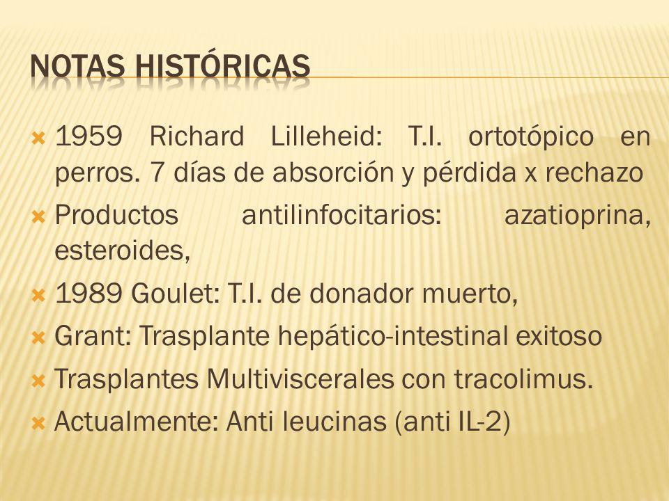 1959 Richard Lilleheid: T.I. ortotópico en perros.