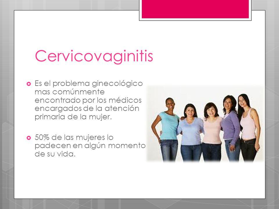 Cervicovaginitis Es el problema ginecológico mas comúnmente encontrado por los médicos encargados de la atención primaria de la mujer. 50% de las muje