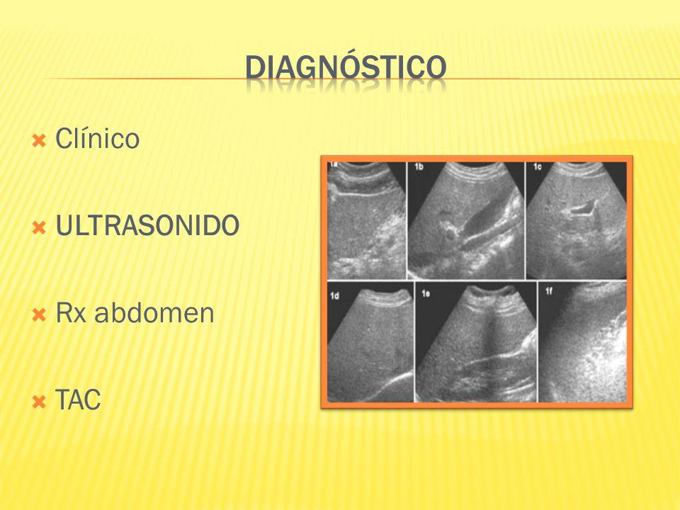Clínico ULTRASONIDO Rx abdomen TAC