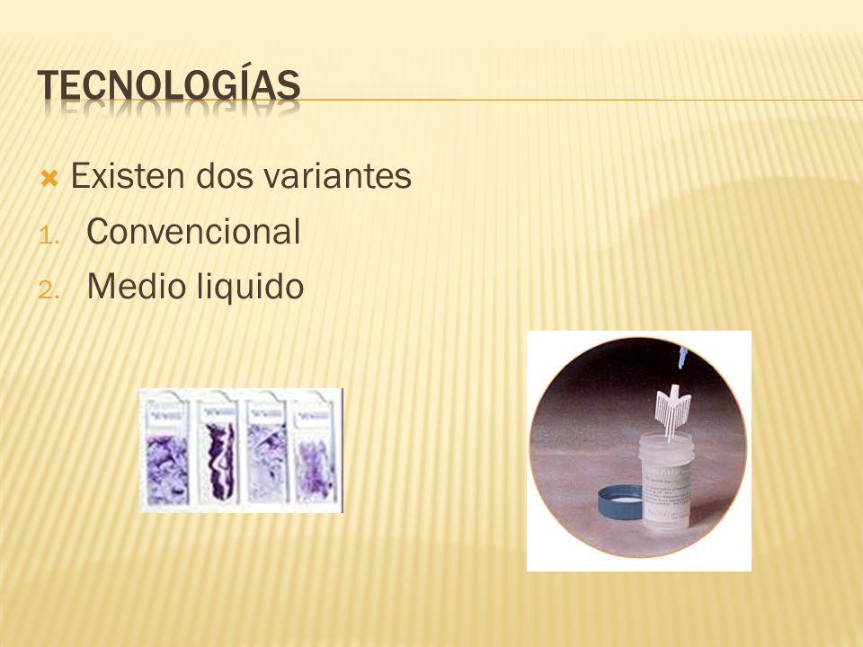 Existen dos variantes 1. Convencional 2. Medio liquido