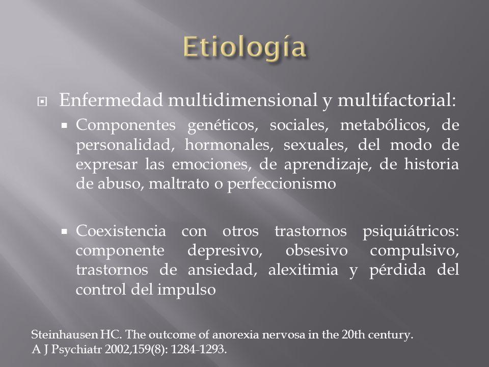 Enfermedad multidimensional y multifactorial: Componentes genéticos, sociales, metabólicos, de personalidad, hormonales, sexuales, del modo de expresa