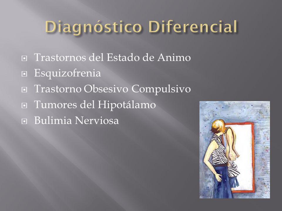 Trastornos del Estado de Animo Esquizofrenia Trastorno Obsesivo Compulsivo Tumores del Hipotálamo Bulimia Nerviosa