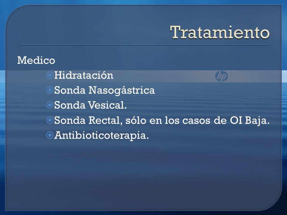 Medico Hidratación Sonda Nasogástrica Sonda Vesical.