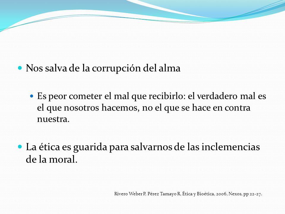 Nos salva de la corrupción del alma Es peor cometer el mal que recibirlo: el verdadero mal es el que nosotros hacemos, no el que se hace en contra nue