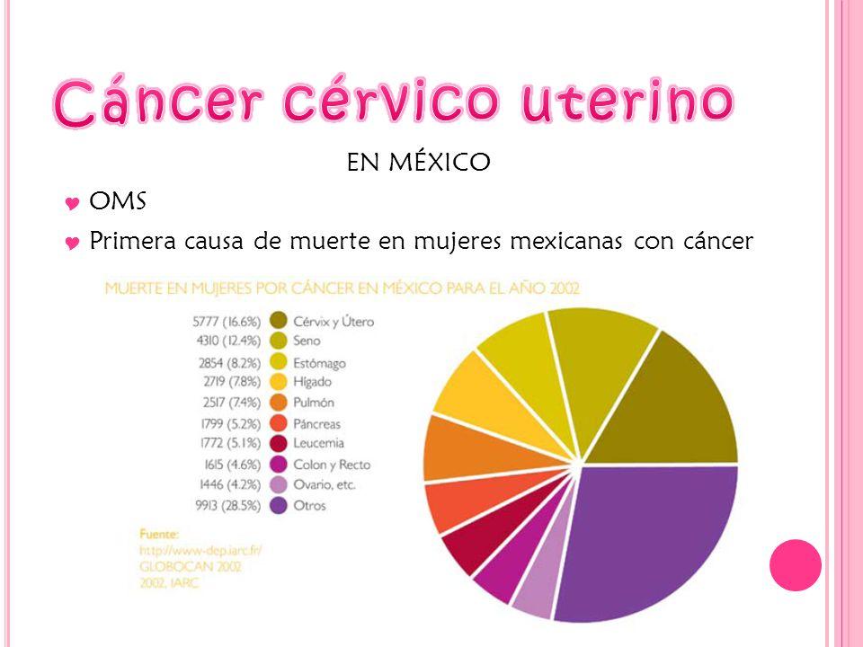 EN MÉXICO OMS Primera causa de muerte en mujeres mexicanas con cáncer