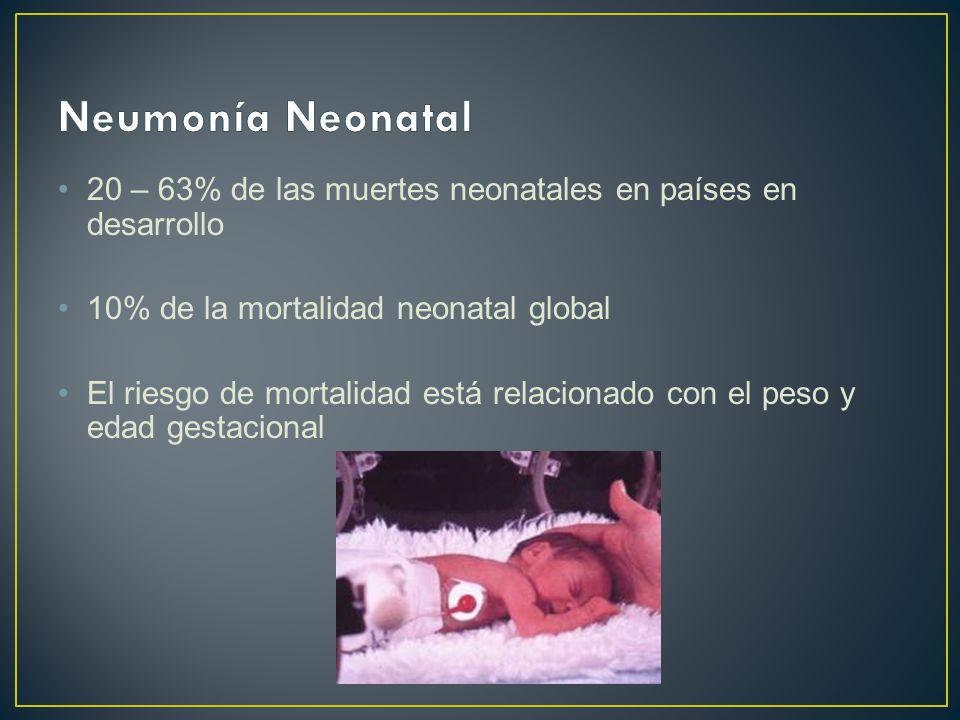 20 – 63% de las muertes neonatales en países en desarrollo 10% de la mortalidad neonatal global El riesgo de mortalidad está relacionado con el peso y edad gestacional