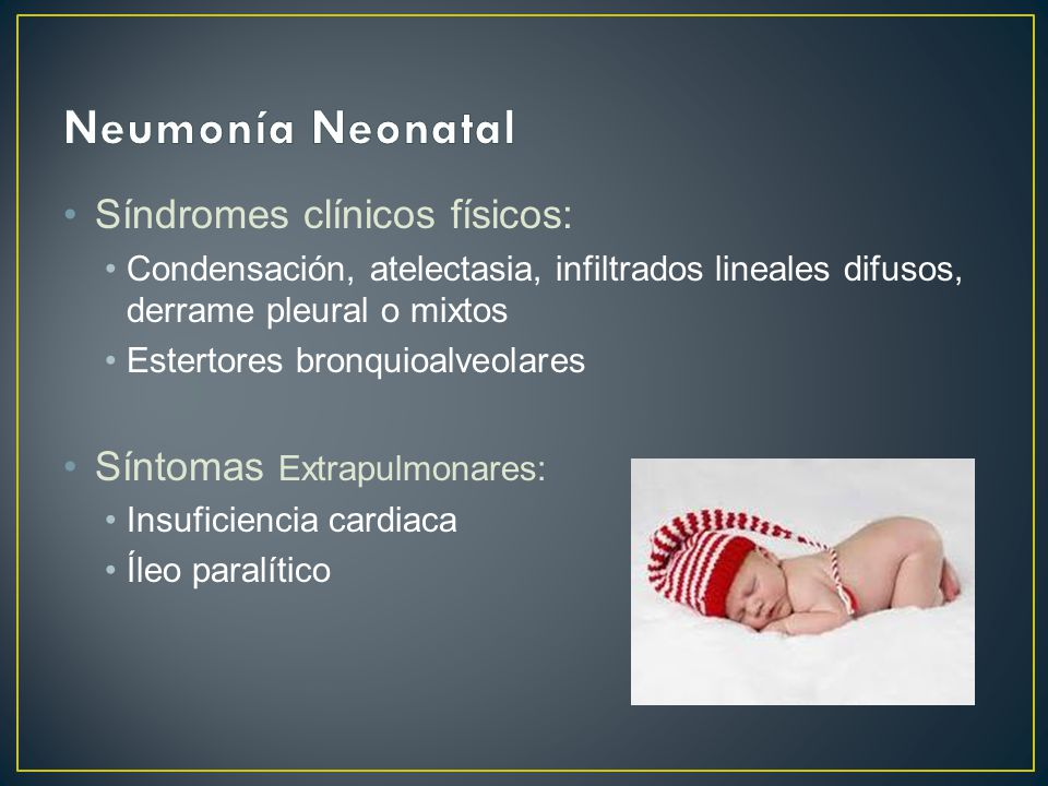 Síndromes clínicos físicos: Condensación, atelectasia, infiltrados lineales difusos, derrame pleural o mixtos Estertores bronquioalveolares Síntomas E