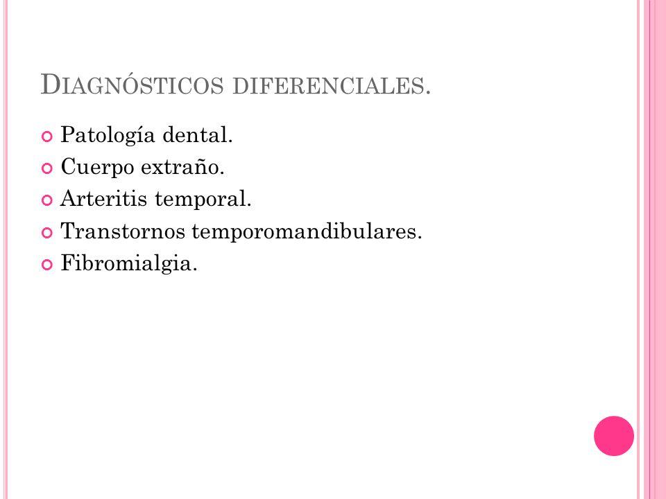 D IAGNÓSTICOS DIFERENCIALES. Patología dental. Cuerpo extraño.