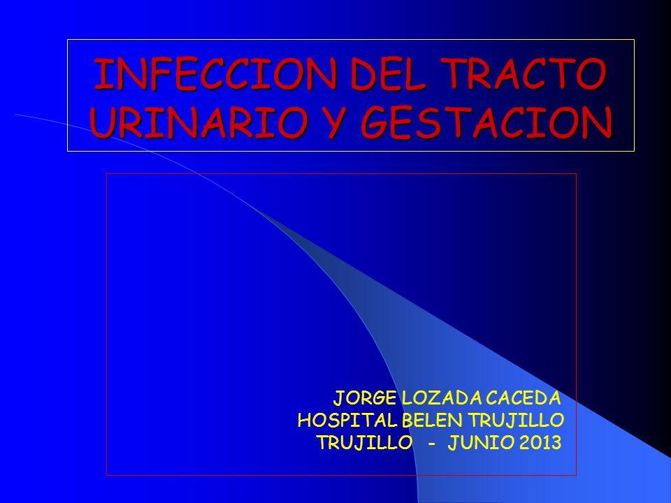 INFECCION DEL TRACTO URINARIO Y GESTACION JORGE LOZADA CACEDA HOSPITAL BELEN TRUJILLO TRUJILLO - JUNIO 2013
