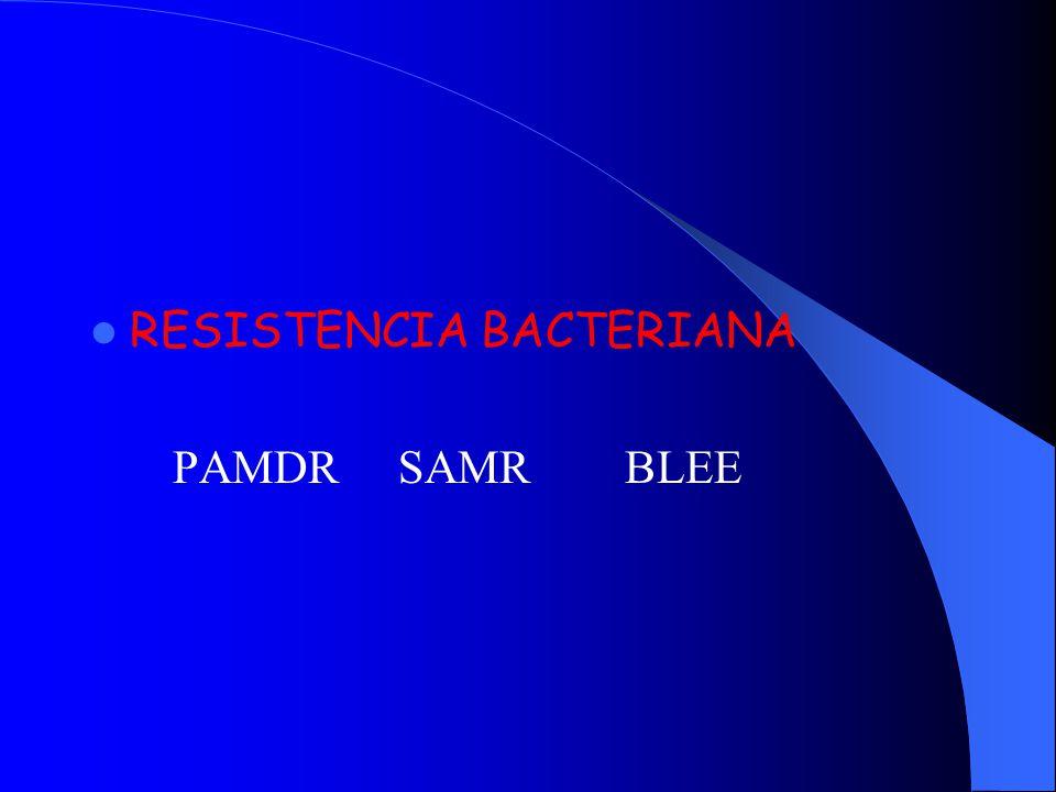 RESISTENCIA BACTERIANA PAMDR SAMR BLEE