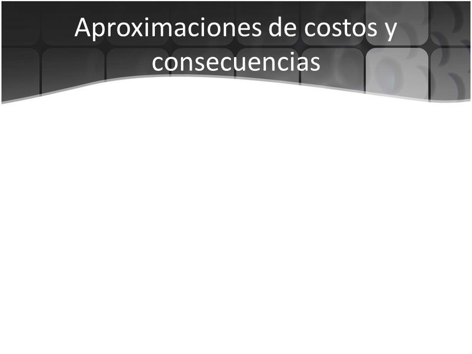 Aproximaciones de costos y consecuencias