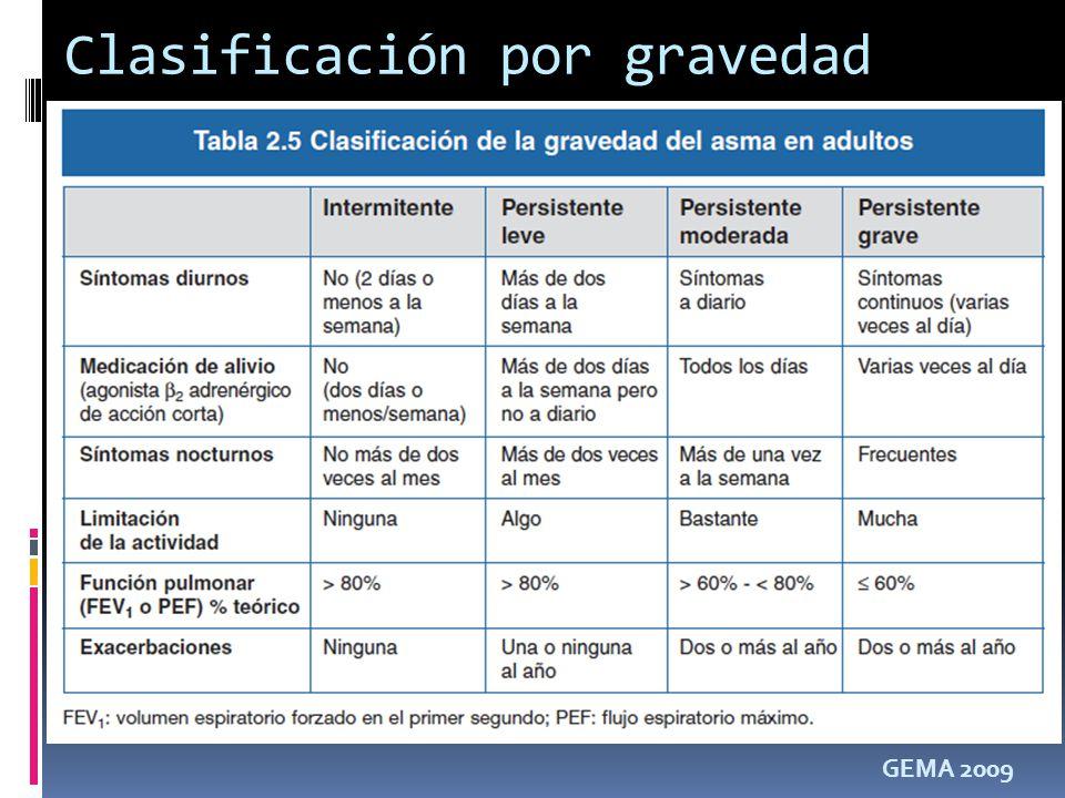Clasificación por gravedad GEMA 2009