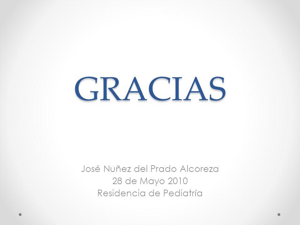 GRACIAS José Nuñez del Prado Alcoreza 28 de Mayo 2010 Residencia de Pediatría