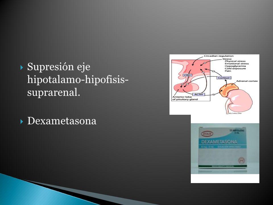 Supresión eje hipotalamo-hipofisis- suprarenal. Dexametasona