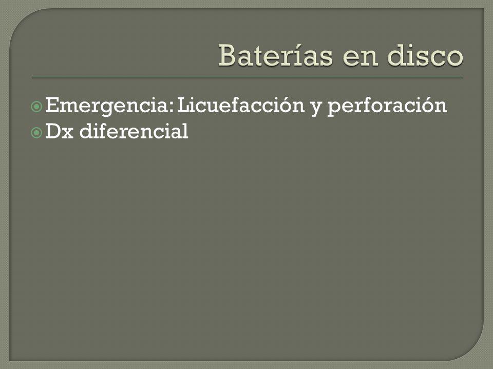 Emergencia: Licuefacción y perforación Dx diferencial