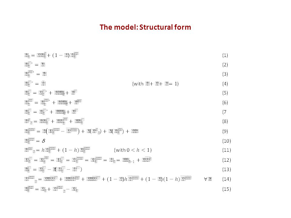 The model: Structural form