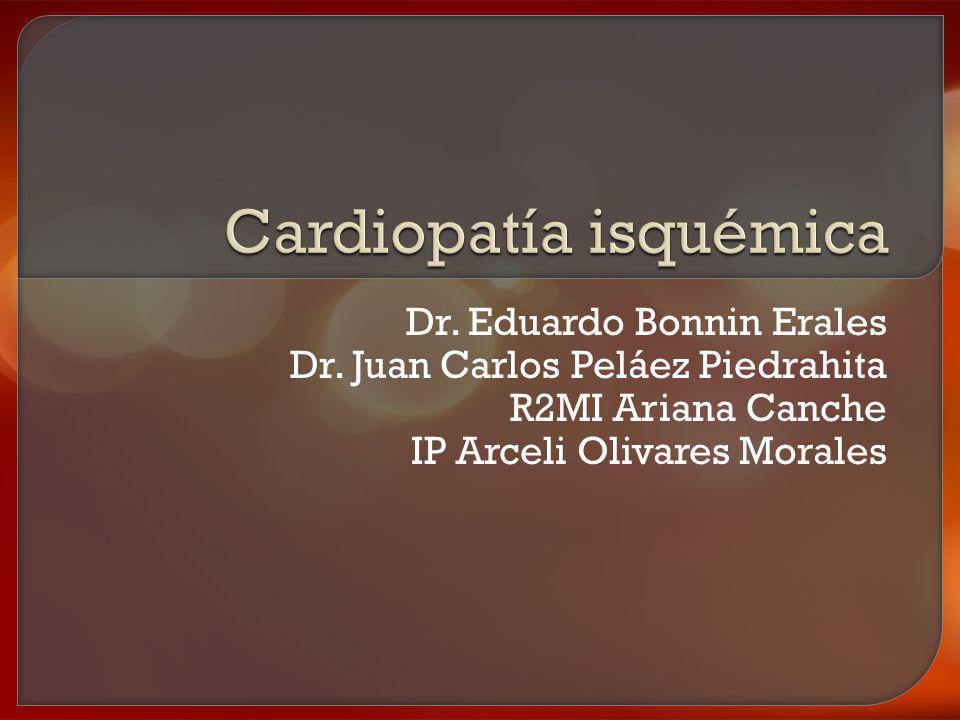 La cardiopatía isquémica reúne un grupo de entidades caracterizadas por un insuficiente aporte sanguíneo al miocardio, siendo su principal causa la aterosclerosis coronaria.