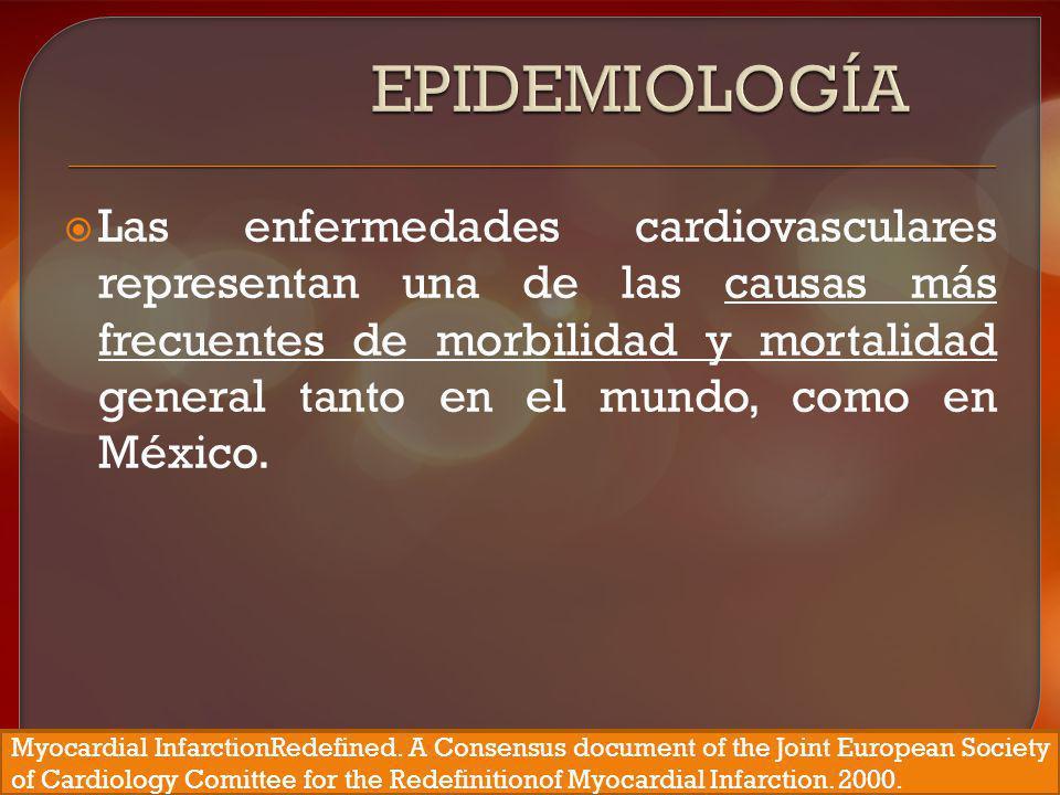 En nuestro país, las enfermedades del corazón en conjunto son la primera causa de mortalidad general; cuando se desagrupan como causa única, la más prevalente de ellas, la cardiopatía isquémica se convierte en la segunda causa de mortalidad general.