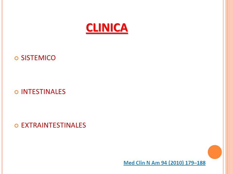 CLINICA SISTEMICO INTESTINALES EXTRAINTESTINALES Med Clin N Am 94 (2010) 179–188